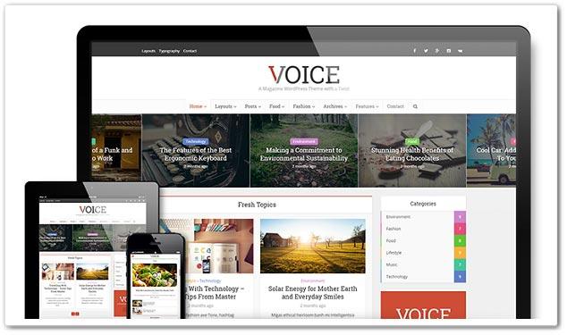 Wordpress Blog Teması - Voice