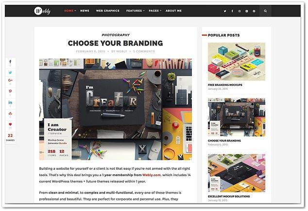 WP Blog Teması - WordPress Blog Temaları - WordPress Blog Teması - Webly