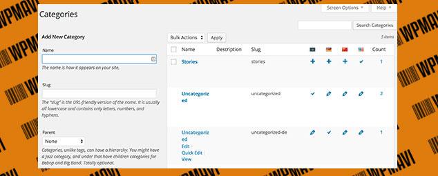 Wordpress Çoklu Dil Ekleme Kategori ve Etiketleri Çevirme