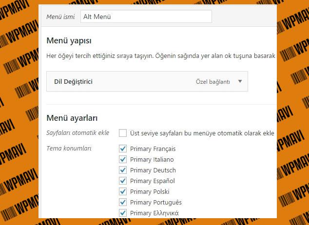 Wordpress Farklı Dilde İçerik Oluşturma ve Her Dil İçin Farklı Menü Oluşturma