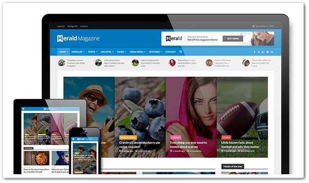 Wordpress Haber Teması - WordPress Haber Temaları - Herald
