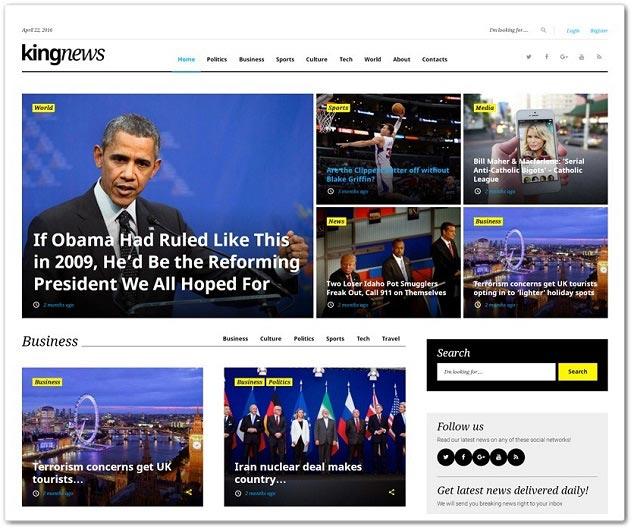 Wordpress Haber Teması - WordPress Haber Temaları - KingNews