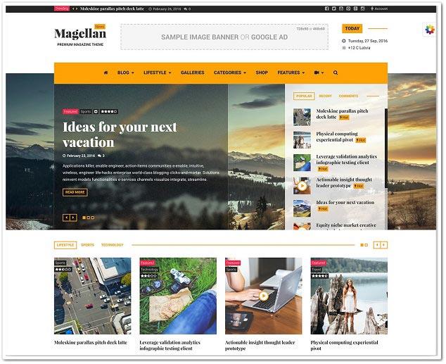 Wordpress Haber Teması - WordPress Haber Temaları - Magellan
