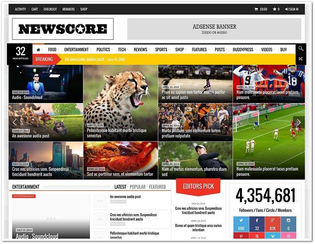 Wordpress Haber Teması - WordPress Haber Temaları - Newscore