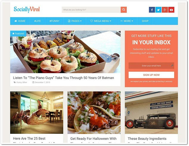 Wordpress Haber Teması - WordPress Habet Temaları - SociallyViral