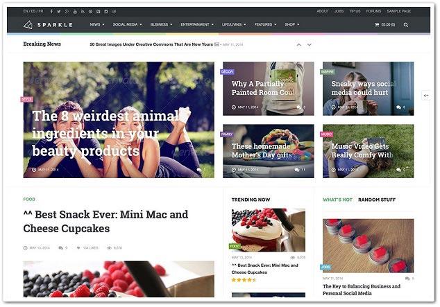 Wordpress Haber Teması - WordPress Haber Temaları - Sparkle