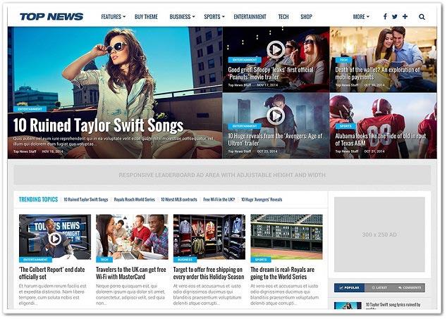 Wordpress Haber Teması - WordPress Haber Temaları - TopNews
