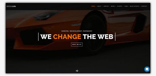 Brooklyn - WordPress Tek Sayfa Tema