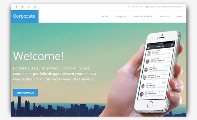 Corporate - WordPress Tek Sayfa Tema