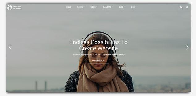 MassiveDynamic - WordPress Tek Sayfa Tema