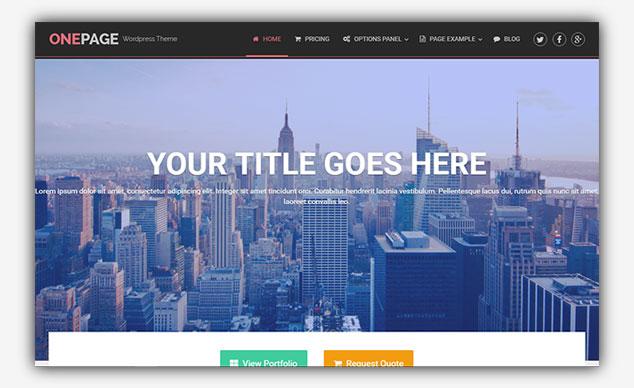 One Page- WordPress Tek Sayfa Tema