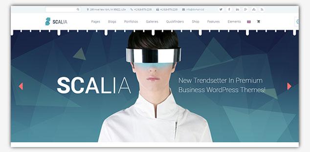 Scalia - WordPress Tek Sayfa Tema
