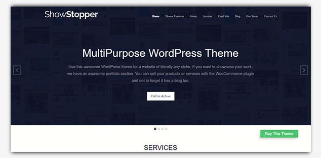 ShowStopper - WordPress Tek Sayfa Tema