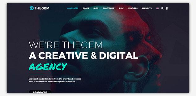 TheGem - WordPress Tek Sayfa Tema