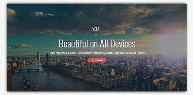 Vela - WordPress Tek Sayfa Tema