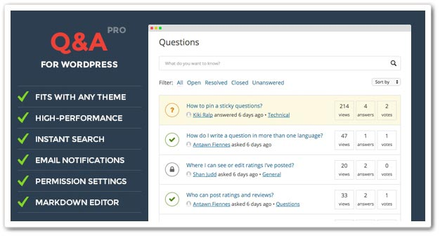 Wordpress Soru Cevap Eklentisi - WordPress Soru Cevap Eklentileri DW Question and Answer