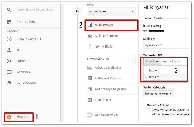 Wordpress SSL Kurulumu - Google Analytics URL Adresi Değiştirme