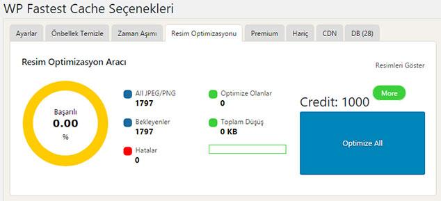 Fastest Cache Premium Ayarları - Resim Optimizasyonu