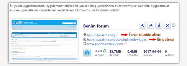 Forum Sitesi Açma - Adresler