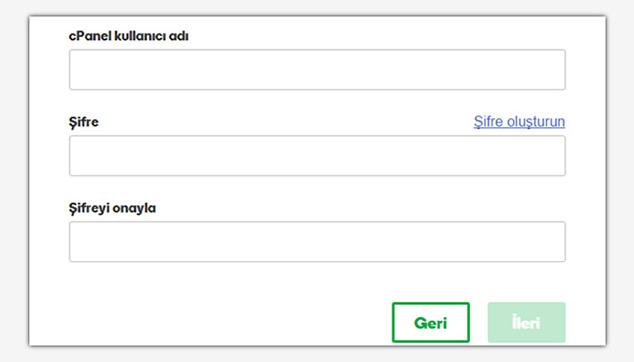 Forum Sitesi Açma - cPanel İçin Kullanıcı Adı ve Şifre Belirleme