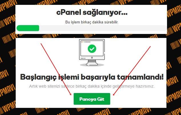 Forum Sitesi Kurma - cPanel Kurulumu Tamamlandı