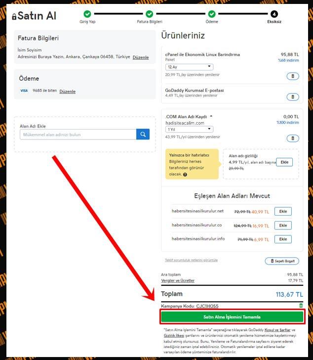 Forum Sitesi Nasıl Açılır? - Ödeme Bilgileri Kontrolü