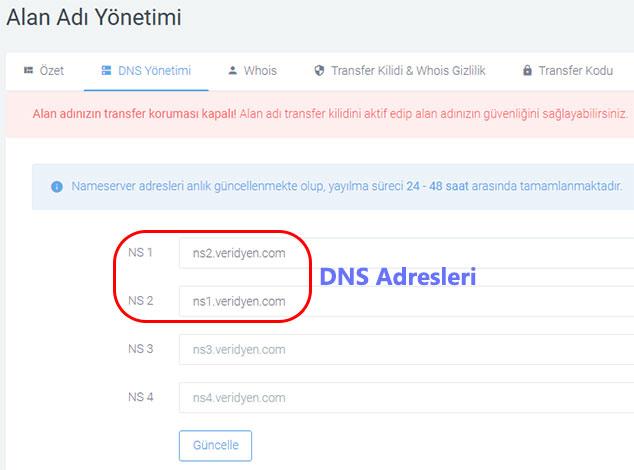WordPress CloudFlare Kurulumu - DNS Adresleri