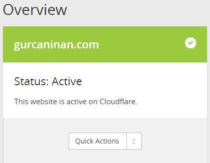 WordPress CloudFlare Kurulumu - Yönlendirme Tamam