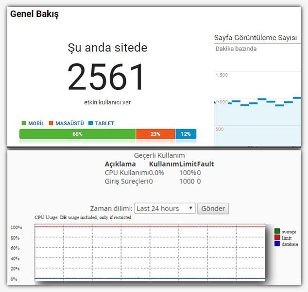 WordPress Cpu Sorunu Çözümü- Anlık Hit Değerleri