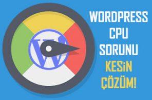 WordPress CPU Sorunu | Kesin Çözüm