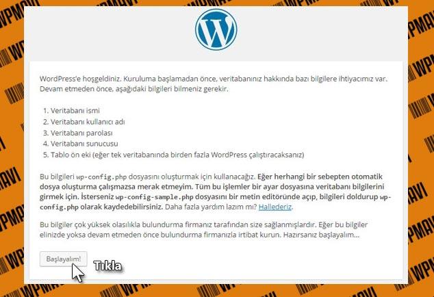 Wordpress Kurulumu Adım - 1