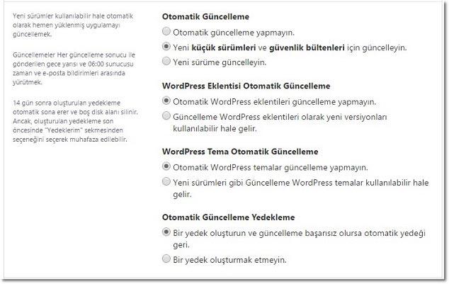 Wordpress Nasıl Kurulur Otomatik Ayarlar