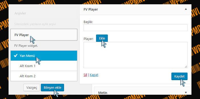 WordPress Video Ekleme - FV Player Bileşeni