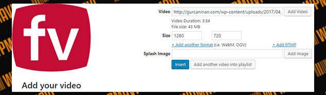 WordPress Video Ekleme - FV Player
