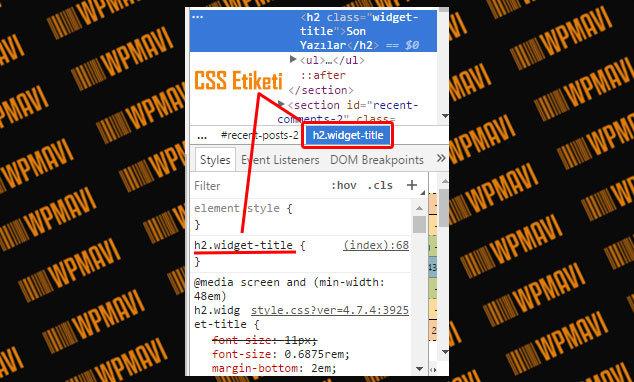 WordPress Yazı Tipi Değiştirme - CSS Etiketi