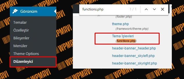 Functions.php Dosyası Nerede Yer Alır