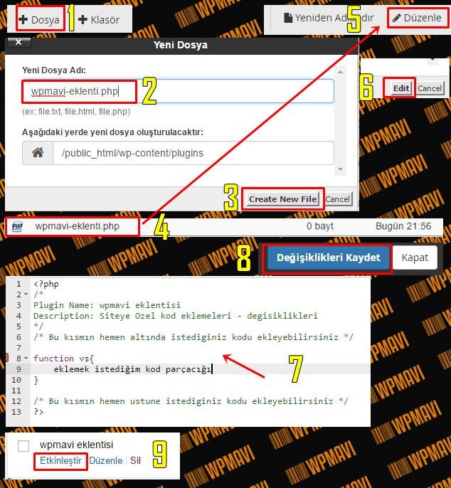 Functions.php Kod Ekleme İçin Siteye Özel Eklenti Oluşturmak