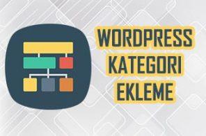 WordPress Kategori Ekleme