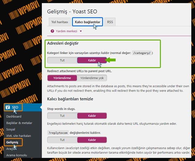 WordPress Kategori URL Değiştirme