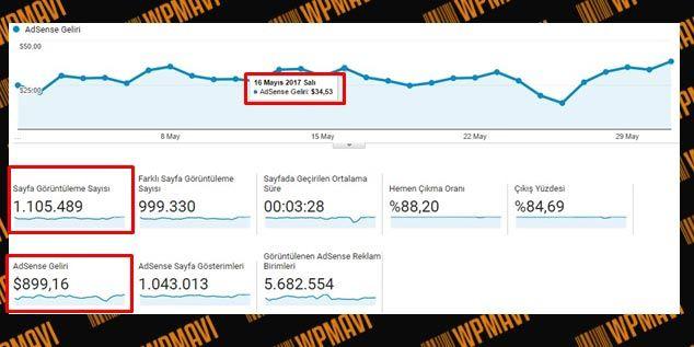 Google Adsense Ne Kadar Kazandırır - Adsense Kazançları - Örnek 3