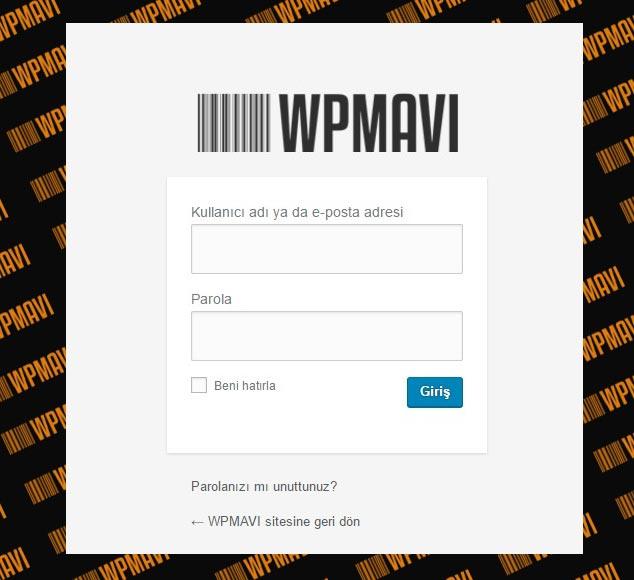 Wordpress Admin Paneli Giriş Logosu Değiştirmek