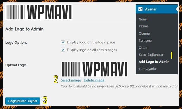 Wordpress Login Sayfa Logosu Değiştirmek