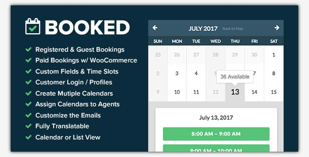 Booked WordPress Rezervasyon Eklentisi