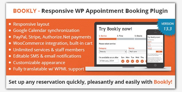 Bookly WordPress Rezervasyon Eklentisi
