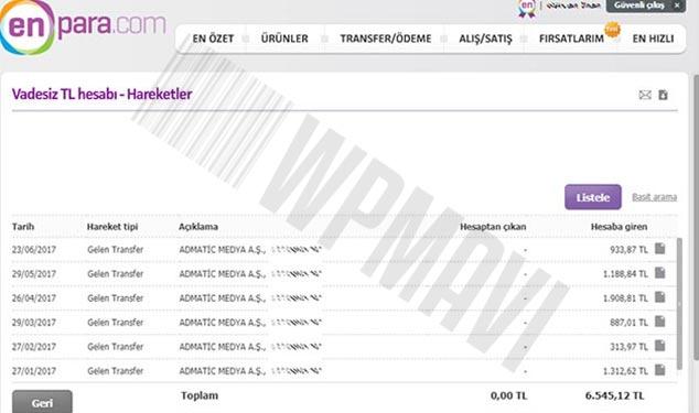 Google Adsensen Alternatifi Admatic Ödeme Kanıtı