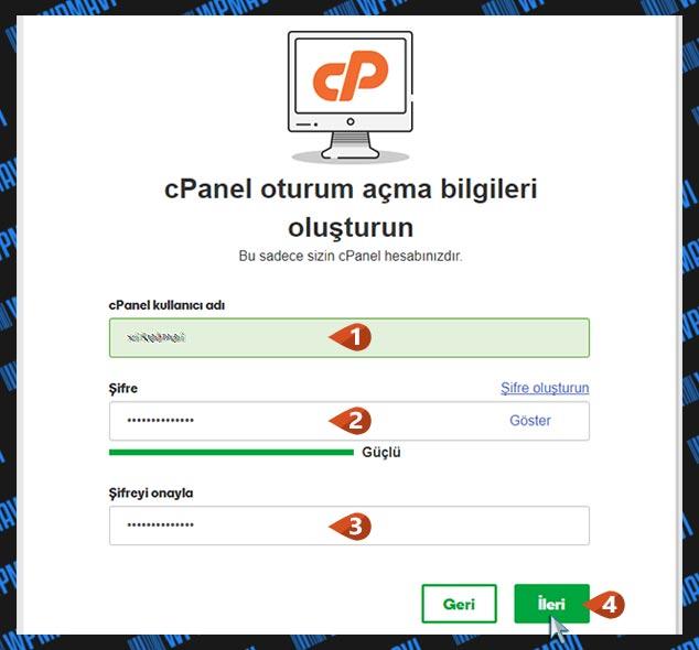 Şirket Maili Açma - cPanel Giriş Bilgileri