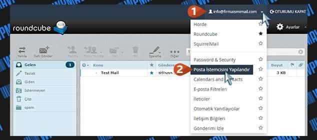 Şirket Maili Açma - Posta İstemcisi Yapılandırma