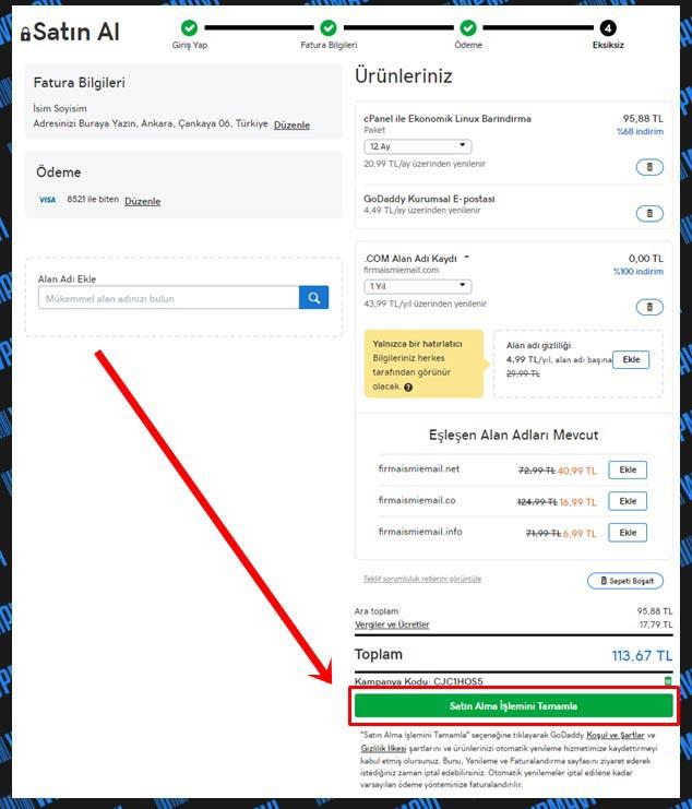 Şirket Maili Açma - İnfo Mail Açma - Satın AL