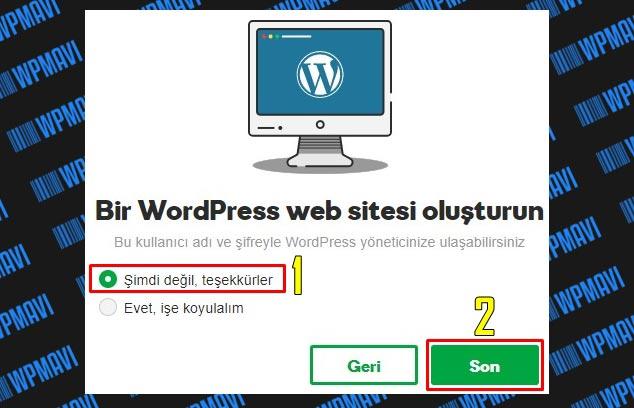 Şirket Maili Açma - WordPress Seçimi