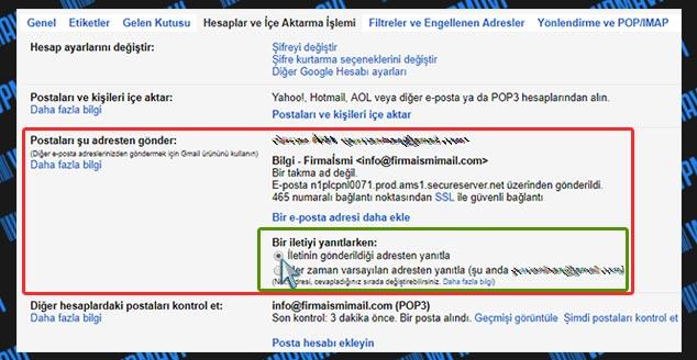 Şirket Mailini Gmailde Açma - Yanıtlama Ayarları